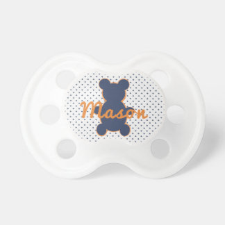 Blue Little Bear Pacifier