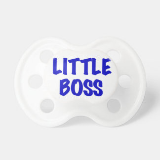 Blue Little Boss Pacifier