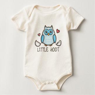 Blue LIttle Hoot Baby Bodysuit