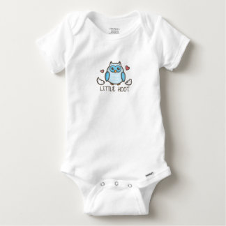 Blue LIttle Hoot Baby Onesie