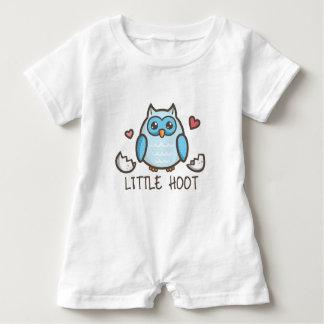 Blue LIttle Hoot Baby Romper