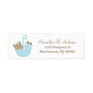 Blue Little Presents Return Address Label