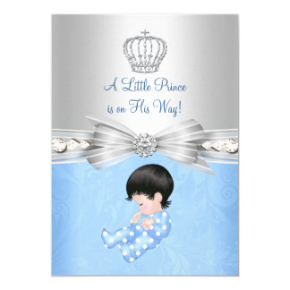 Blue Little Prince Baby Shower Invitation