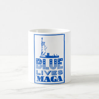 Blue Lives MAGA Coffee Mug