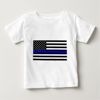 Blue Lives Matter - US Flag Police Thin Blue Line Baby T-Shirt