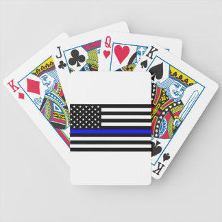 Blue Lives Matter - US Flag Police Thin Blue Line Bicycle Playing Cards