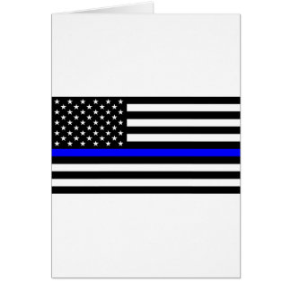 Blue Lives Matter - US Flag Police Thin Blue Line Card