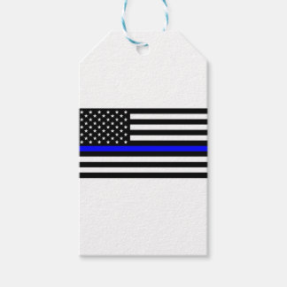 Blue Lives Matter - US Flag Police Thin Blue Line Gift Tags