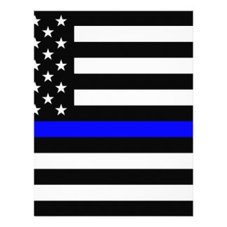 Blue Lives Matter - US Flag Police Thin Blue Line Letterhead