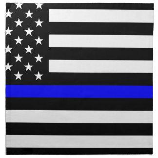 Blue Lives Matter - US Flag Police Thin Blue Line Napkin