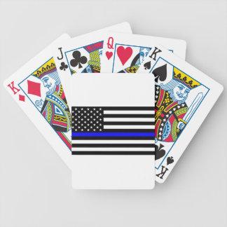 Blue Lives Matter - US Flag Police Thin Blue Line Poker Deck
