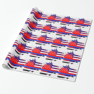 Blue Lives Matter Wrapping Paper