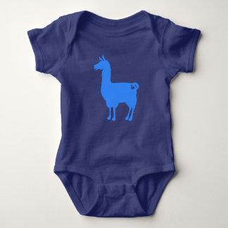 Blue Llama Baby Bodysuit