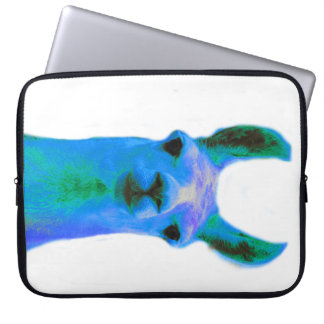Blue Llama Graphic Laptop Sleeve