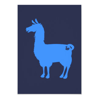Blue Llama Invitation