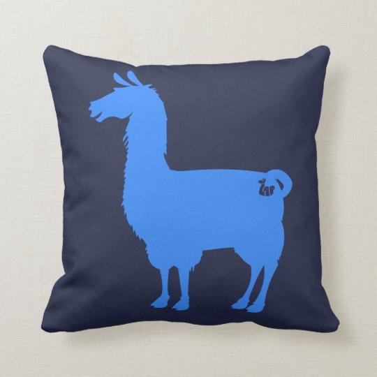 Blue Llama Pillow