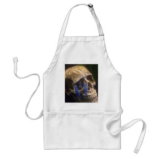Blue lobster crayfish hanging out in a skull eye standard apron