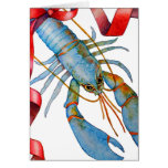 Blue Lobster Holiday Card