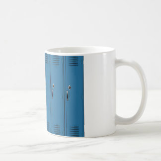 Blue Locker Doors Coffee Mug