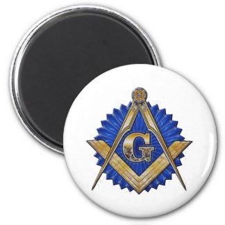 Blue Lodge Mason 2 Inch Round Magnet