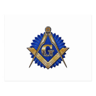 Blue Lodge Mason Postcard