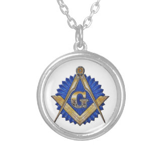 Blue Lodge Mason Silver Plated Necklace
