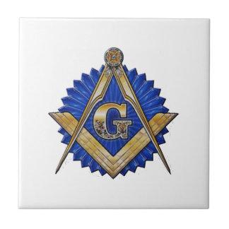 Blue Lodge Mason Tile