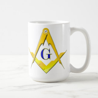 Blue Lodge Square & Compasses Masonic Mug