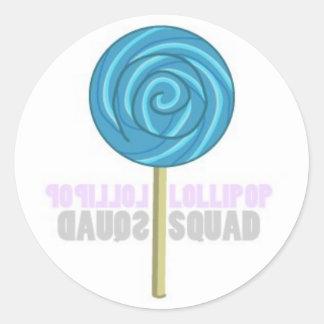 Blue Lollipop Classic Round Sticker
