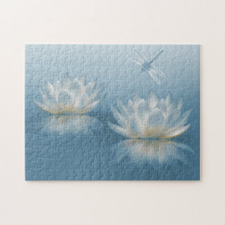 Blue Lotus and Dragonfly Puzzle