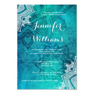 Blue lotus bridal shower invitations