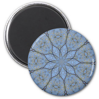Blue Lotus Flower Design Magnet