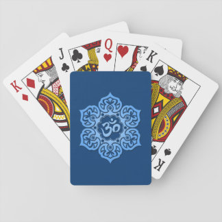 Blue Lotus Flower Om Playing Cards