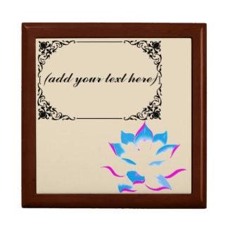blue lotus flower personalized keepsake box