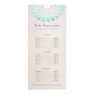 Blue Lotus Health and Wellness Price List Menu Rack Card Design