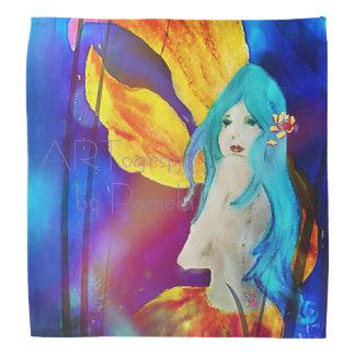 Blue Lotus Lionfish Mermaid Bandana