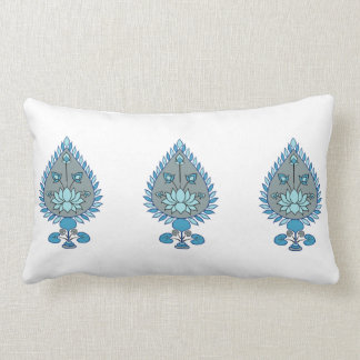 Blue Lotus Lumbar Pillow