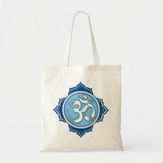 Blue Lotus Om Budget Tote Bag