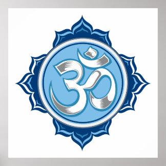 Blue Lotus Om Poster