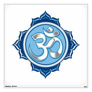 Blue Lotus Om Wall Sticker