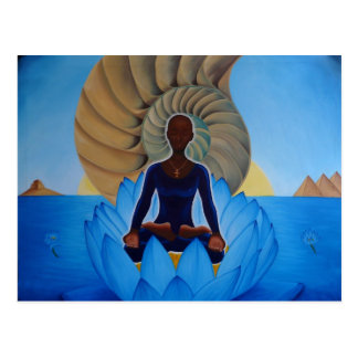 Blue Lotus Postcard