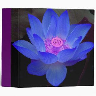 blue lotus,waterlily 3 ring binders