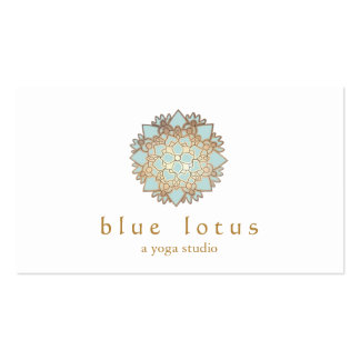 Blue Lotus Yoga Instructor Holistic Health Business Card