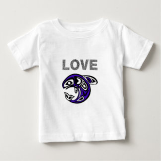 Blue Love fish Baby T-Shirt