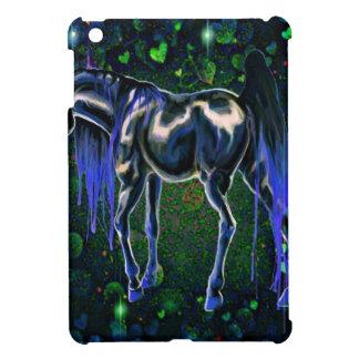 Blue Love Horse iPad Mini Covers