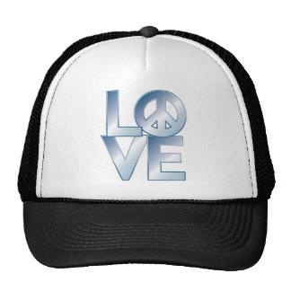 Blue LOVE=Peace Trucker Hat