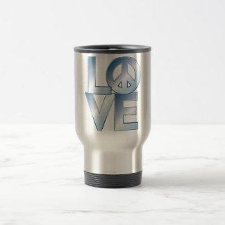 Blue LOVE=Peace Coffee Mug