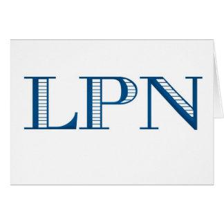 Blue LPN Card