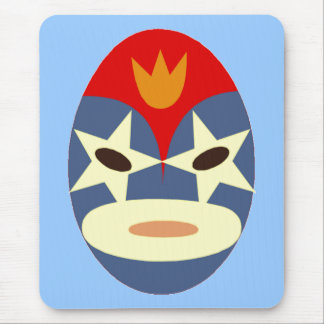 Blue Lucha Libre Mask Mouse Pad