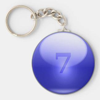 Blue Lucky 7 Keychain